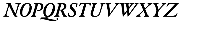 SG Garamond No 2 SH Medium Italic Font UPPERCASE