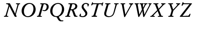 SG Garamond SB Roman Italic Font UPPERCASE