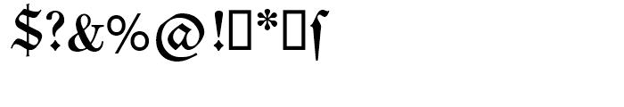 SG Neue Luthersche Fraktur SB Medium Font OTHER CHARS