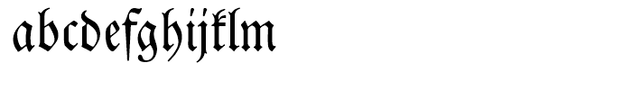 SG Neue Luthersche Fraktur SB Regular Font LOWERCASE