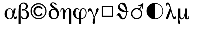 SG Pi Layout CH 1 SB Regular Font LOWERCASE