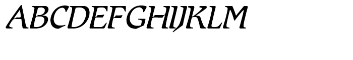 SG Romic SH Light Italic Font UPPERCASE