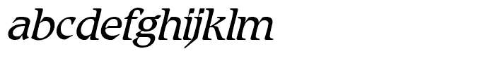 SG Romic SH Light Italic Font LOWERCASE