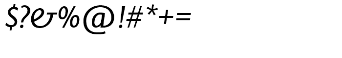 SG Today Sans Serif SH Regular Italic Font OTHER CHARS