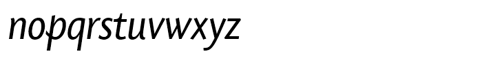 SG Today Sans Serif SH Regular Italic Font LOWERCASE