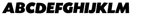 SG Today Sans Serif SH Ultra Italic Font UPPERCASE
