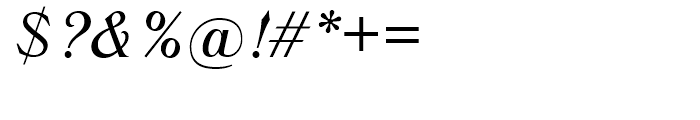 SG Trieste SB Medium Italic Font OTHER CHARS