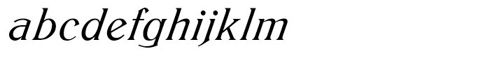 SG Trieste SB Medium Italic Font LOWERCASE