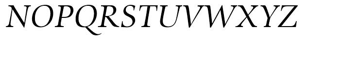 SG Zapf Renaissance Antiqua SB Book Italic Font UPPERCASE