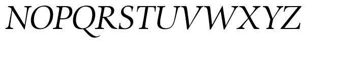 SG Zapf Renaissance Antiqua SH Book Italic Font UPPERCASE