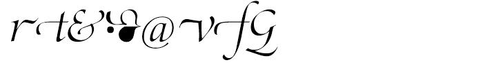 SG Zapf Renaissance Antiqua SH Light Italic Swashed Font OTHER CHARS