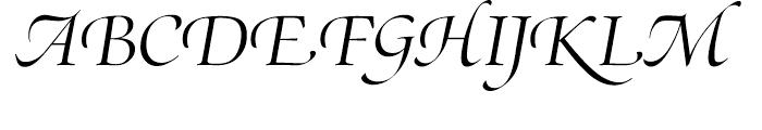 SG Zapf Renaissance Antiqua SH Light Italic Swashed Font UPPERCASE