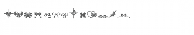sg bows and ribbons dingbats font Font UPPERCASE