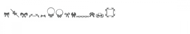 sg bows and ribbons dingbats font Font LOWERCASE