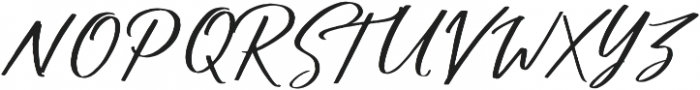 Shadow Boxing Script Two otf (400) Font UPPERCASE
