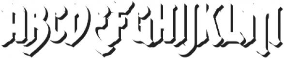 Shadow otf (400) Font LOWERCASE