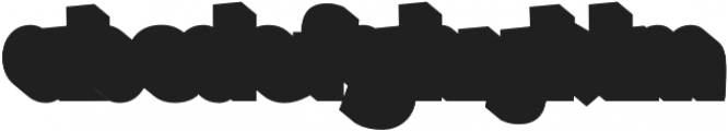 Shadow otf (800) Font LOWERCASE