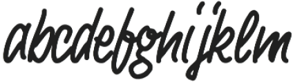 Shakehand otf (400) Font LOWERCASE