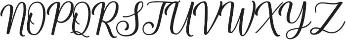 Shalinta otf (400) Font UPPERCASE