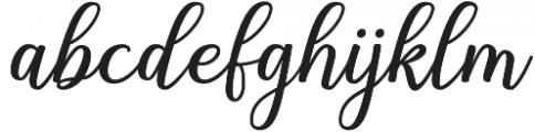 Shalinta otf (400) Font LOWERCASE