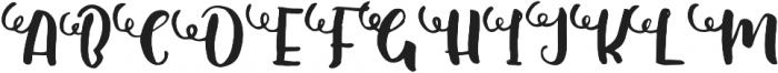 Shallom Regular otf (400) Font UPPERCASE
