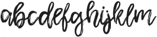 Shamber Regular otf (400) Font LOWERCASE
