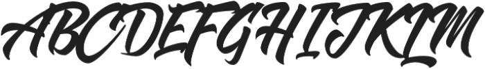 Shanders otf (400) Font UPPERCASE