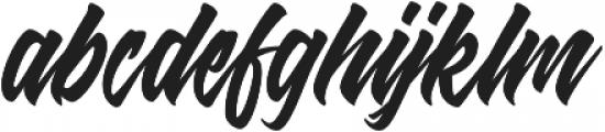 Shanders otf (400) Font LOWERCASE
