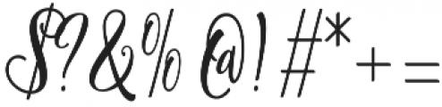 Shanghai Script Alt Regular otf (400) Font OTHER CHARS
