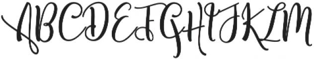 Shanghai Script Regular otf (400) Font UPPERCASE