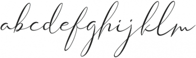 Shangrella otf (400) Font LOWERCASE