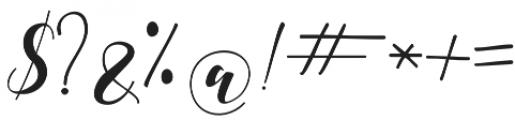 Shania Medium otf (500) Font OTHER CHARS
