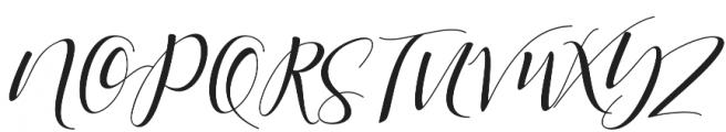 Shania Medium otf (500) Font UPPERCASE