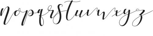 Shania Medium otf (500) Font LOWERCASE