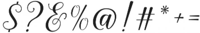 Shania Script otf (400) Font OTHER CHARS