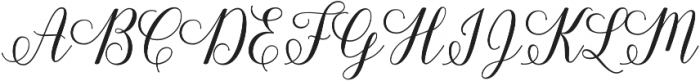 Shania Script otf (400) Font UPPERCASE