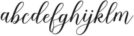 Shania Script otf (400) Font LOWERCASE