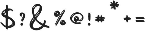 Shanky otf (400) Font OTHER CHARS