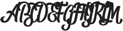 Shanthans Regular otf (400) Font UPPERCASE
