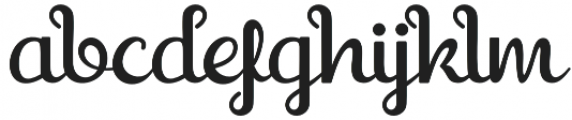 Shaquilla Regular otf (400) Font LOWERCASE