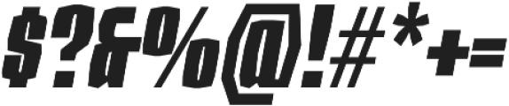 Sharka 04_Condensed-italic otf (400) Font OTHER CHARS