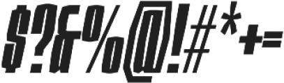 Sharka 06_Compressed-italic otf (400) Font OTHER CHARS