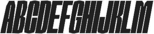 Sharka 06_Compressed-italic otf (400) Font UPPERCASE