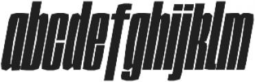 Sharka 06_Compressed-italic otf (400) Font LOWERCASE
