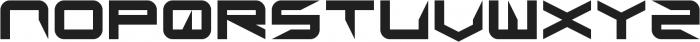 Sharp ttf (400) Font UPPERCASE