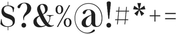 Sharpe otf (500) Font OTHER CHARS