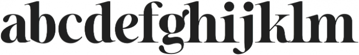Sharpe otf (700) Font LOWERCASE