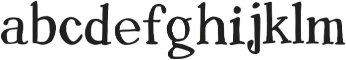 Sharpie Fumes Serif Regular otf (400) Font LOWERCASE
