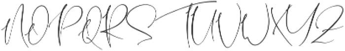 Shattera otf (400) Font UPPERCASE