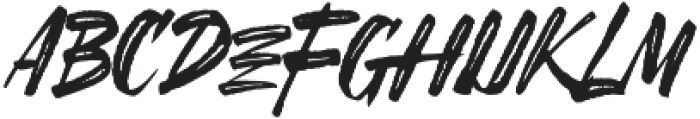 SheTerror Slant Regular ttf (400) Font LOWERCASE